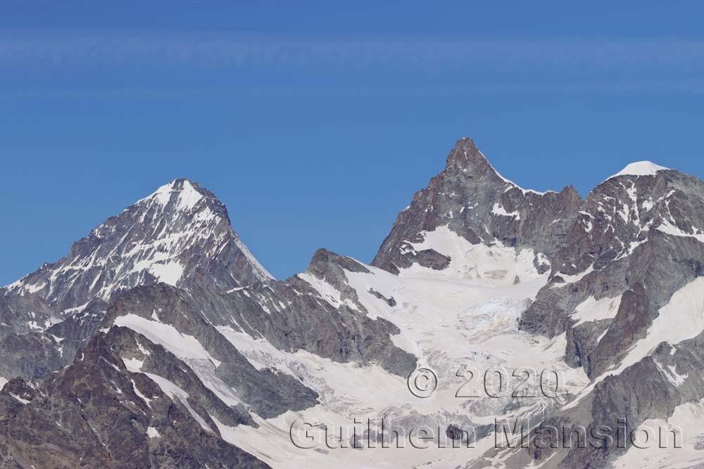 Dent blanche (4358 m) - Obelgabelhorn (4073 m)